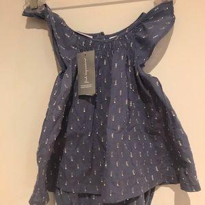Fresh Impressions Baby Infant flutter sleeve Dress